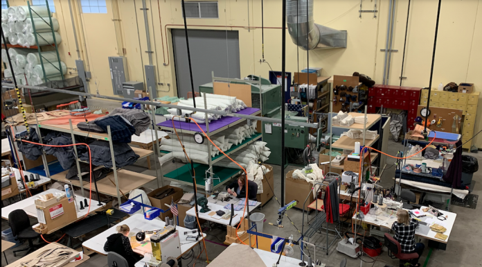 West Paw manufacturing face masks to donate to local health care workers