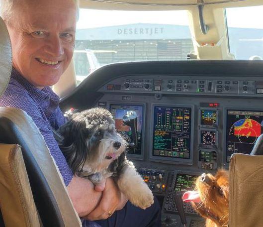Photograph of Desert Jet Pilot with dog